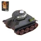 """Танк радиоуправляемый """"Т-34"""", светозвуковые эффекты, 1:48, в комплекте: игровые карточки и поле боя"""