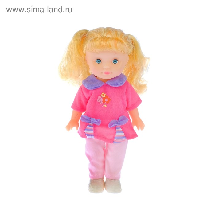 """Кукла """"Оленька"""", в платье и беретике"""