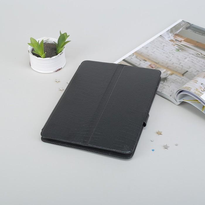 """Чехол-книжка """"Norton"""" для планшета, универсальный, 10.1"""", с уголками, рептилия, цвет чёрный"""