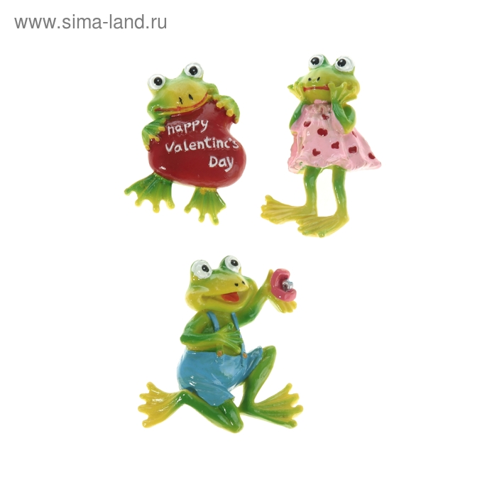 """Магнит """"Влюбленная лягушка"""", МИКС"""