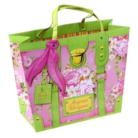 Пакет–сумка ламинат «Цветы», 39 х 30 см
