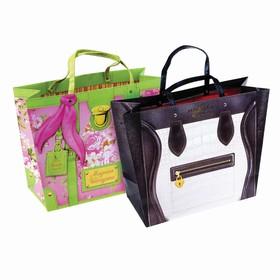 Пакет–сумка с тиснение «Париж», 39 х 30 см