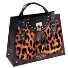 Пакет–сумка ламинат с напылением бархатом «Леопард», 39 х 30 см