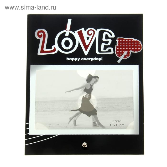 Фоторамка зеркальная Love на прищепках, 10х15 см