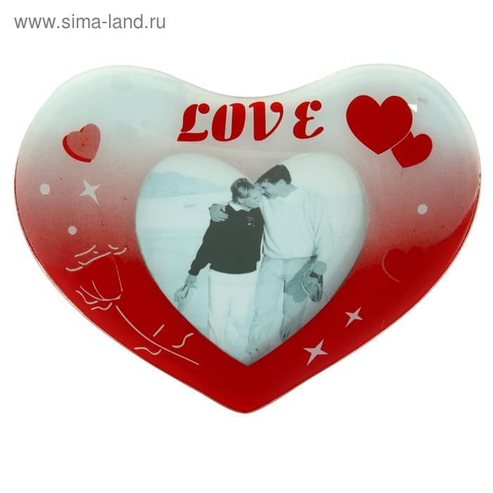 "Фоторамка ""Объемное сердце Love"" 10х13 см"
