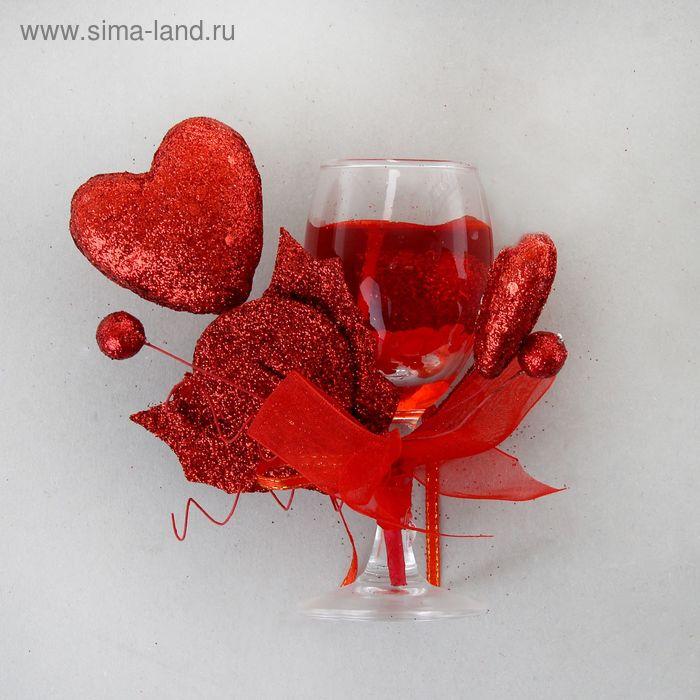"""Свеча гелевая """"Страсть"""", цвет красный"""