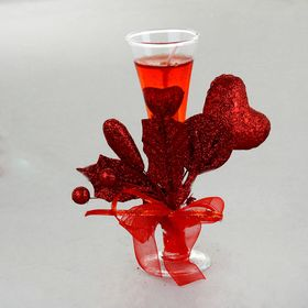 """Свеча гелевая """"Сердце любви"""", цвет красный"""