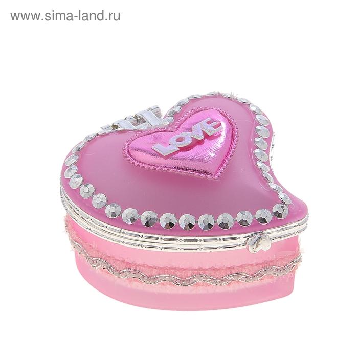 "Шкатулка ""Розовая с сердцем"""