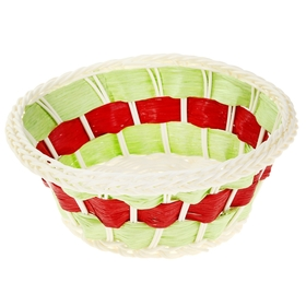 Корзинка декоративная 'Зелёно-красная' Ош