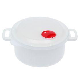 Контейнер для холодильника и СВЧ с крышкой 1 л 'Традиция', круглый Ош