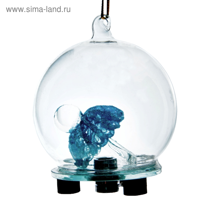 """Сувенир """"Соска голубая в шаре"""" световой"""