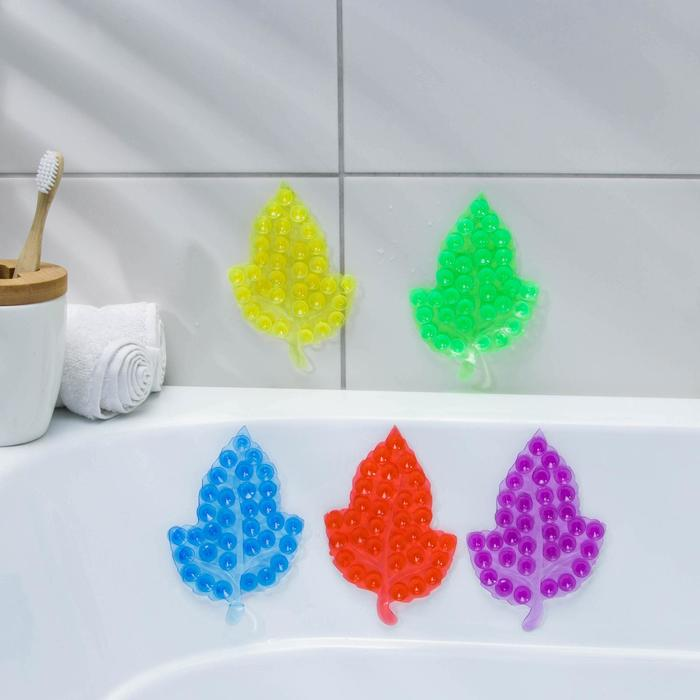 """Мини-коврик для ванны """"Кленовый лист"""", цвет МИКС"""
