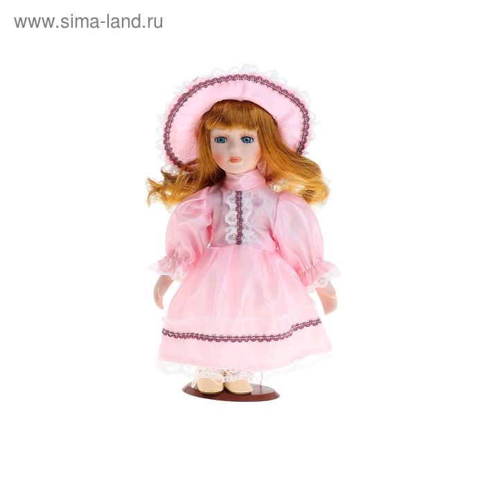 """Кукла коллекционная """"Настенька в розовом платье"""""""