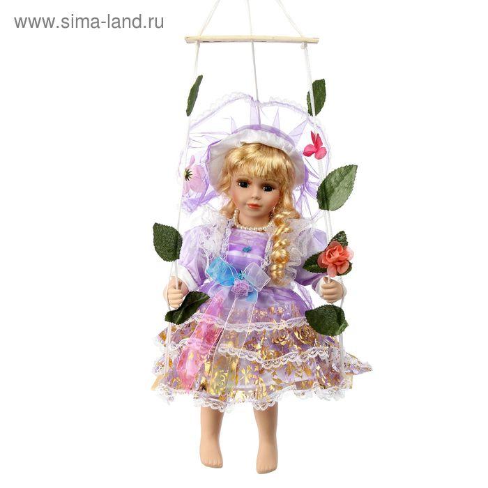 """Кукла коллекционная """"Мария в голубом на качелях"""""""