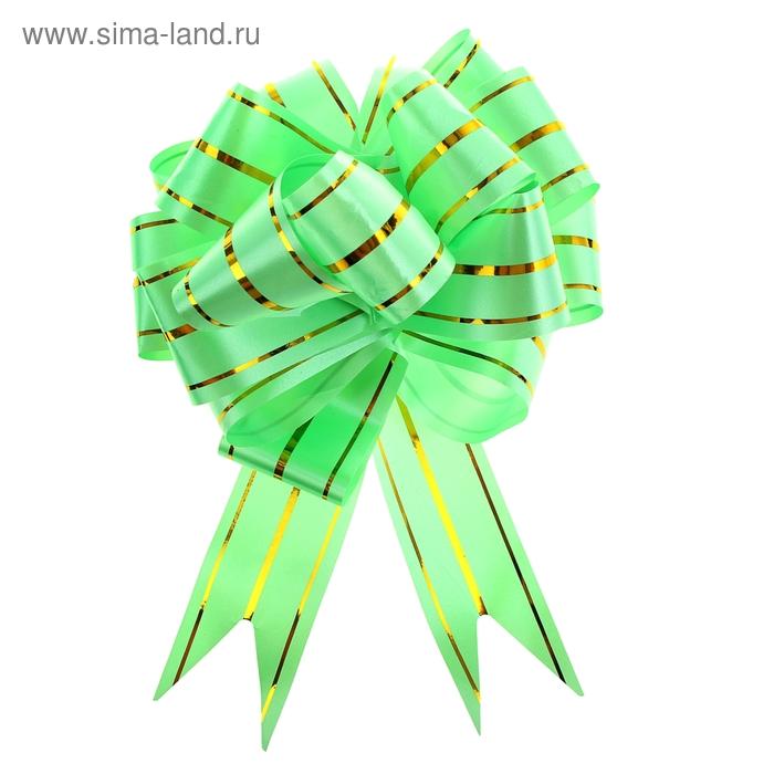 """Бант-шар №4,5 """"Золотое сечение"""", цвет зелёный"""