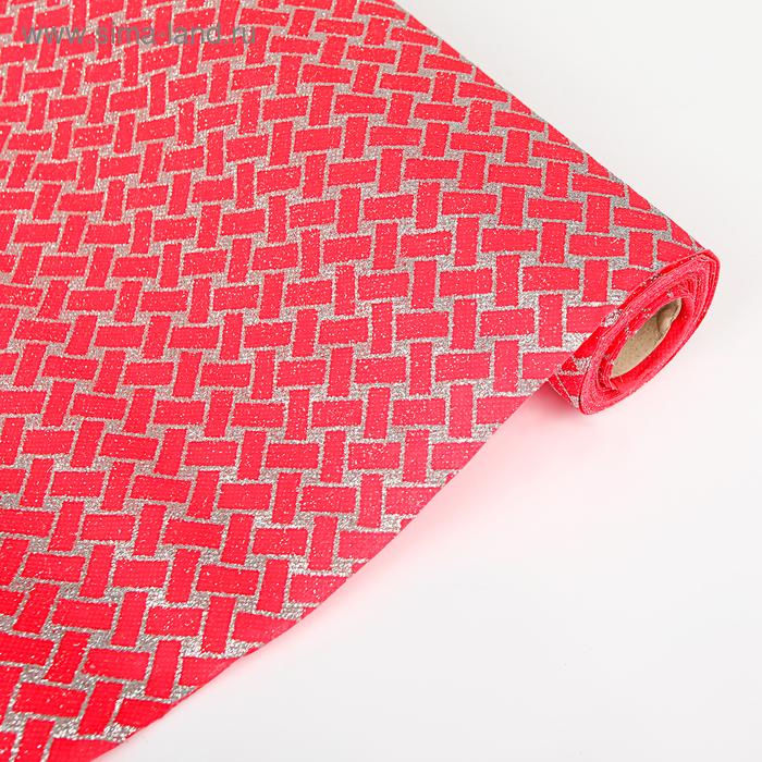 """Флизелин """"Плетение"""", цвет красный"""