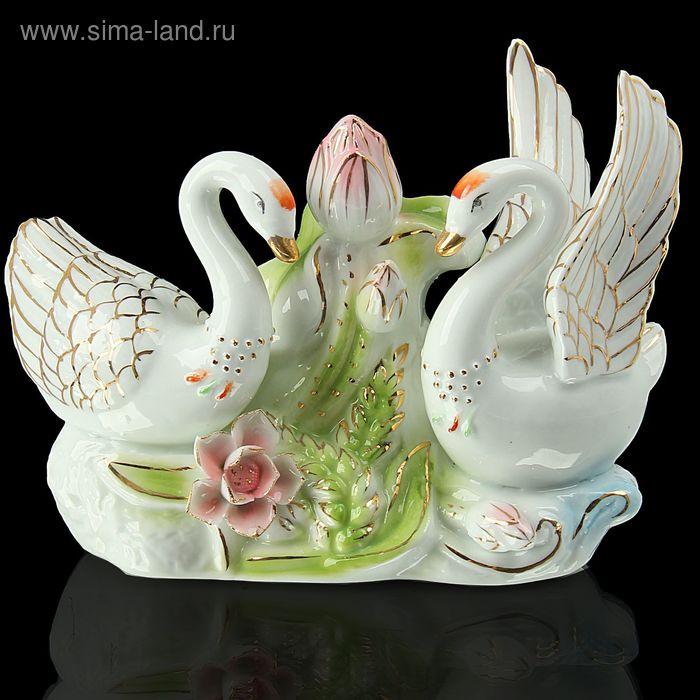 """Сувенир """"Лебеди в заводи"""" цветные"""