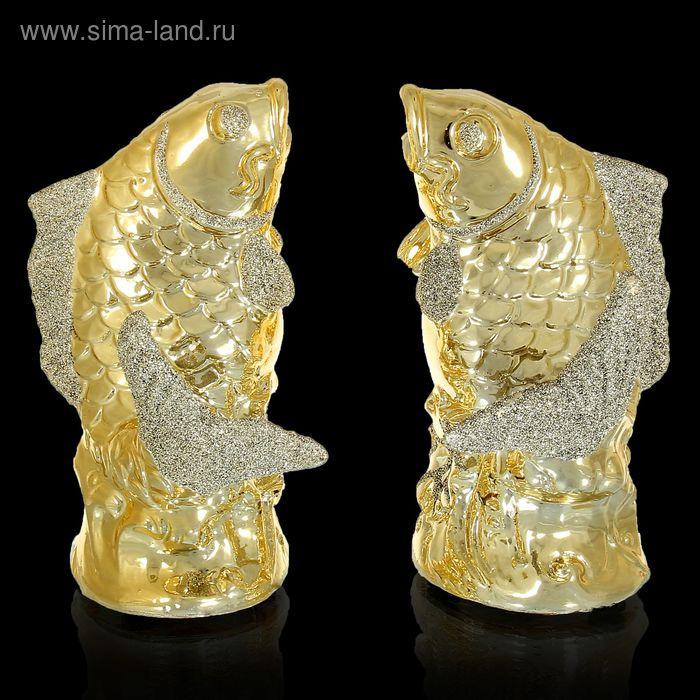 "Сувенир под золото ""Два карпа"", набор из 2 штук"