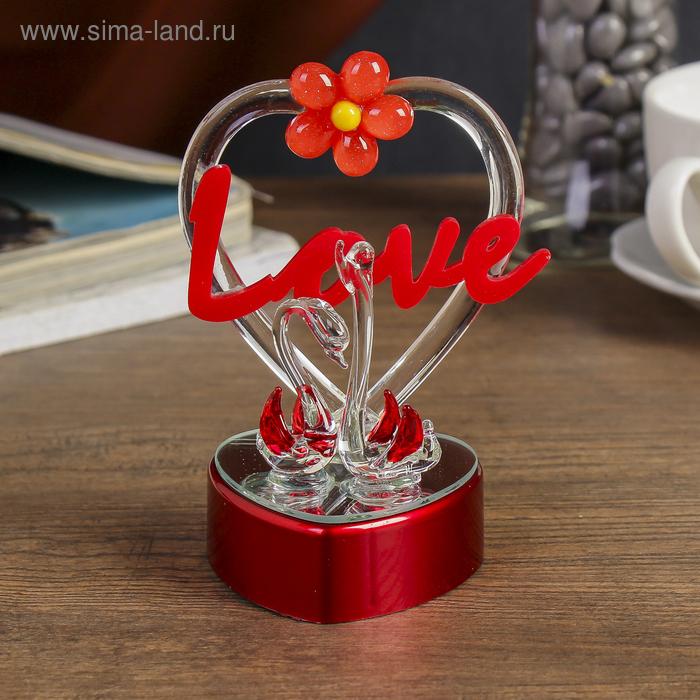 "Сувенир ""Лебединая пара Love"" световой"