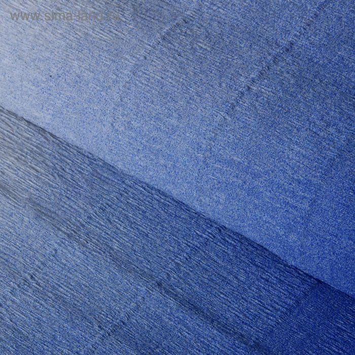 """Бумага крепированная """"Переход"""", цвет синий"""