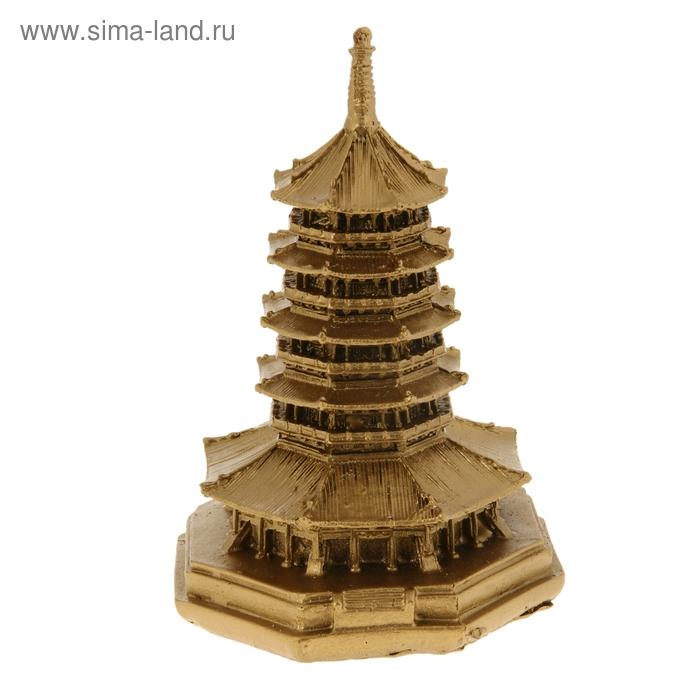 """Нэцкэ под бронзу """"Пагода"""" пять ярусов"""
