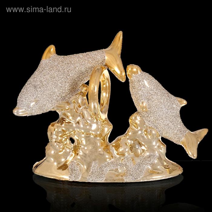 """Сувенир под золото """"Игры дельфинов"""""""
