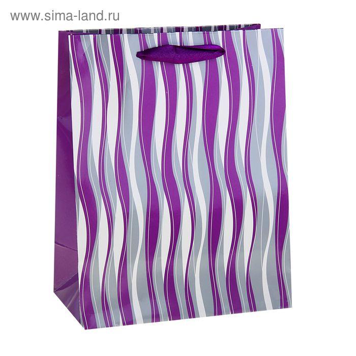 """Пакет ламинированный """"Волна"""", цвет фиолетовый"""