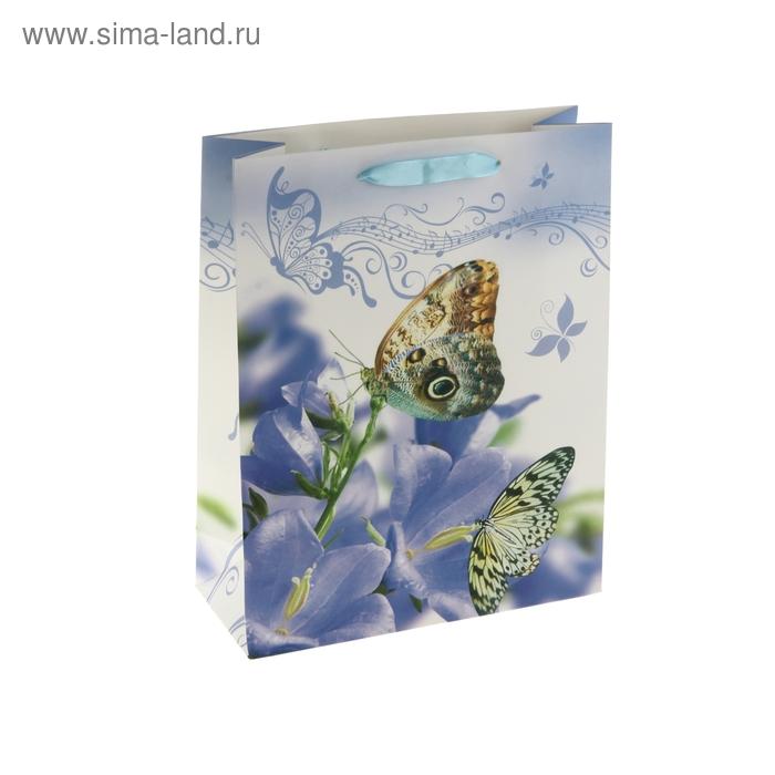 """Пакет ламинированный """"Бабочки на колокольчиках"""""""