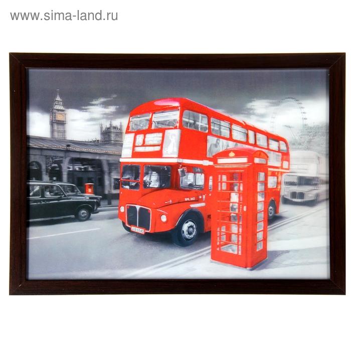 """Картина объёмная 3D """"Автобус"""""""