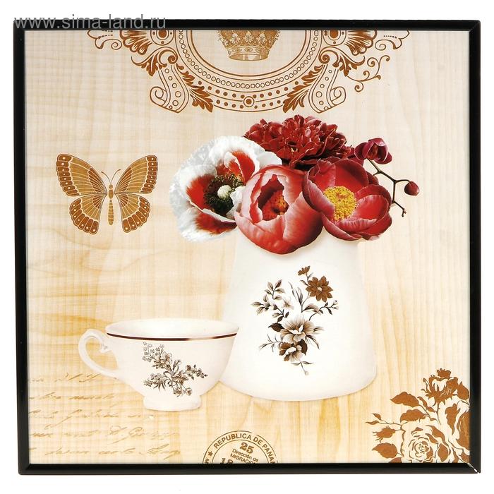 "Картина-постер ""Розы и бабочка"""