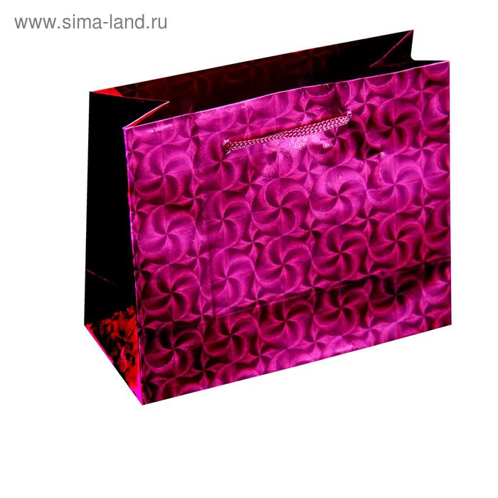 Пакет голографический, цвет розовый