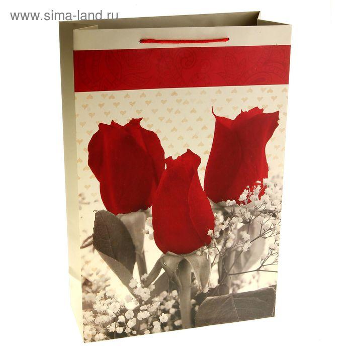 """Пакет ламинированный """"Розы в букете"""""""