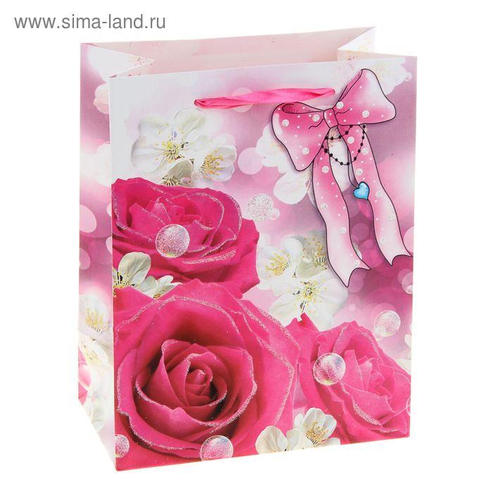 """Пакет ламинированный """"Розовые розы"""""""