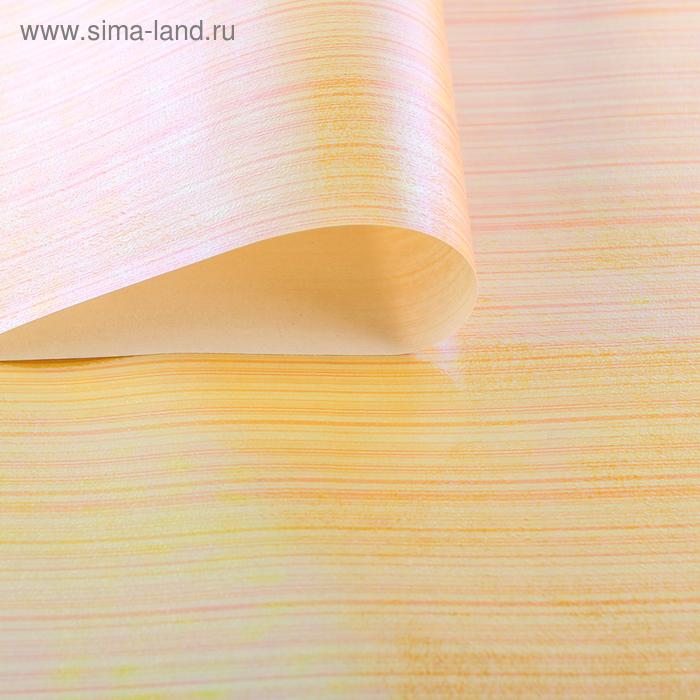 """Бумага упаковочная перламутровая """"Линии"""", цвет оранжевый"""