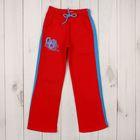 Брюки для девочки, рост 110-116 см, цвет красный  М-220