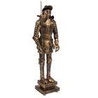 """Статуэтка """"Рыцарь в доспехах с пикой и щитом"""", под бронзу"""