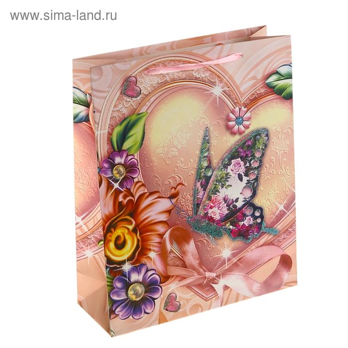 """Пакет ламинированный """"Бабочка в сердце"""""""