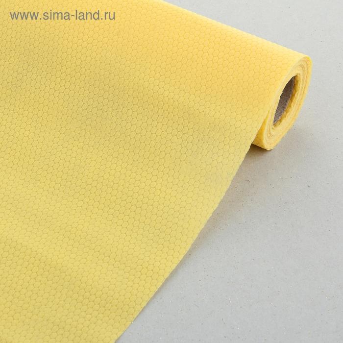 """Флизелин """"Соты"""", цвет желтый"""