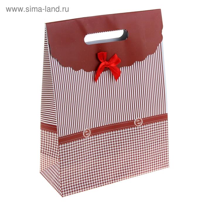 """Пакет с клапаном """"Пуговки"""", цвет бордовый"""