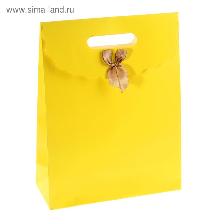 Пакет с клапаном, цвет жёлтый