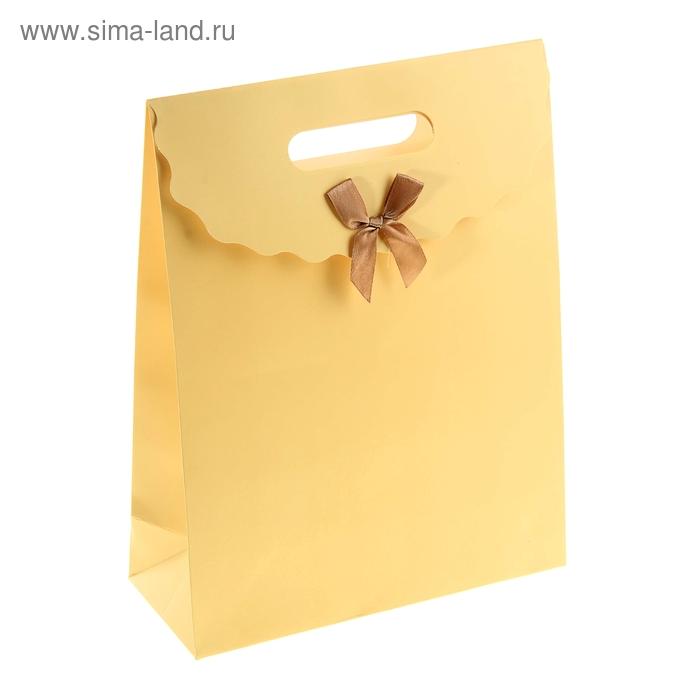 Пакет с клапаном, цвет бежевый