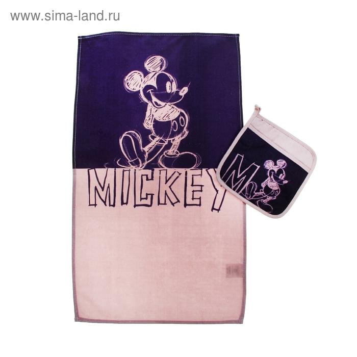 Набор Disney Mickey Mouse: полотенце 37*62см, прихватка/карм. 18*18см, хл.100%