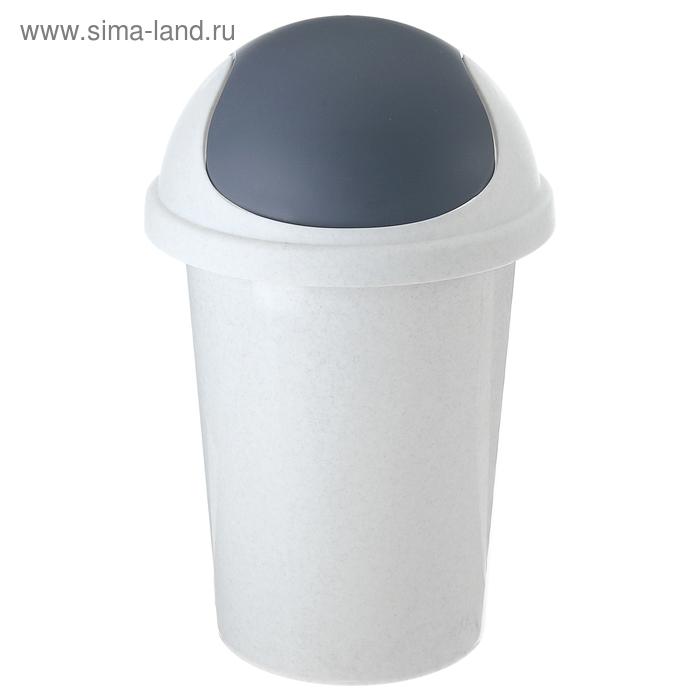 """Контейнер для мусора 10 л """"Мрамор"""""""