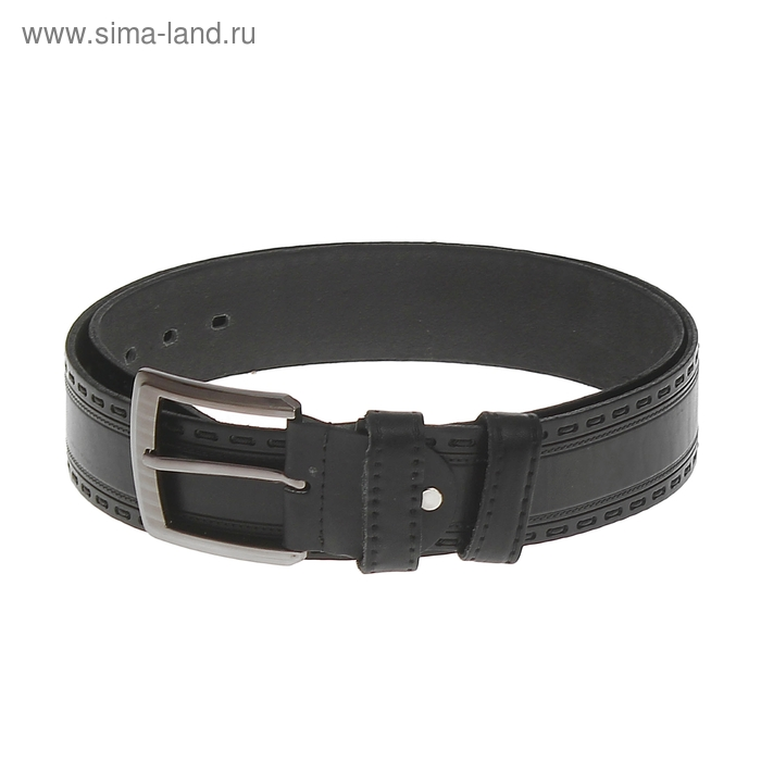 Ремень мужской, винт, пряжка под металл МИКС, ширина - 4,5см, чёрный