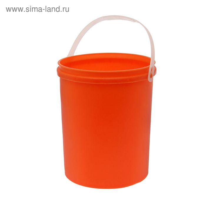 Ведро 12 л  с без крышки (оранж)