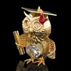 Сувенир «Сова», с кристаллами Сваровски