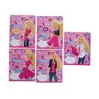 Тетрадь 24 листа клетка Barbie, обложка мелованный картон, полный УФ-лак, МИКС