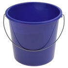 Ведро без крышки 5 л, металлическая ручка, цвет синий