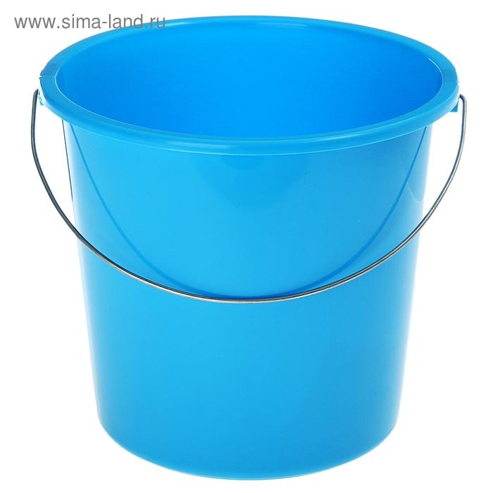 Ведр 7 л без крышки, металлическая ручка, цвет голубая лагуна