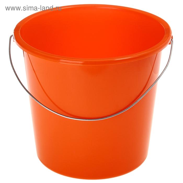 Ведро 7 л без крышки, металлическая ручка, цвет мандарин